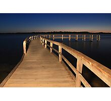 Lake Clifton Boardwalk At Dusk  Photographic Print