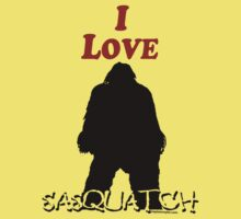 I Love Sasquatch Kids Tee