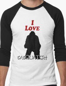 I Love Sasquatch Men's Baseball ¾ T-Shirt