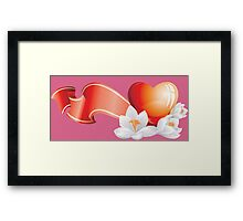 Passionate heart with flowers Framed Print