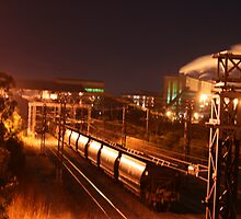 Coal Train to Powerstation at Night.... by A1000WORDS
