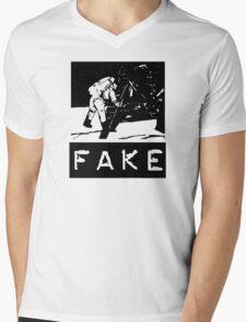 NASA Moon Landing Fake Mens V-Neck T-Shirt