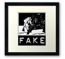 NASA Moon Landing Fake Framed Print