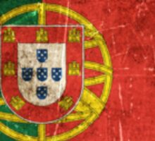 Vintage Aged and Scratched Portuguese Flag Sticker