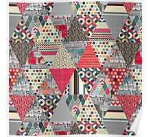 London triangle quilt Poster