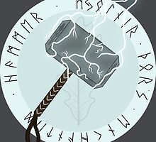 Mjölnir - Thor's Enchanted Hammer by fimbulvetr