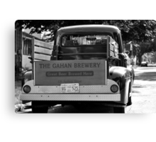 THE GAHAN BREWERY '52 FORD Canvas Print