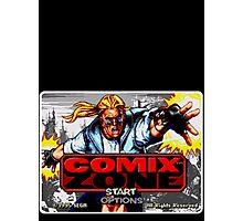 Comix Zone Genesis Megadrive Sega Start menu screenshot Photographic Print