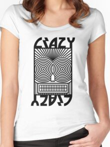 Crazy   Women's Fitted Scoop T-Shirt
