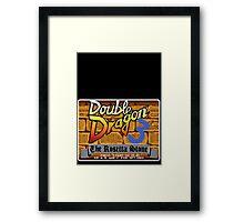 Double Dragon Genesis Megadrive Sega Start menu screenshot Framed Print
