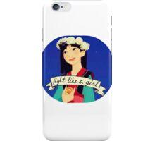 "Mulan: ""fight like a girl!"" iPhone Case/Skin"