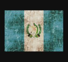 Vintage Aged and Scratched Guatemalan Flag Kids Tee