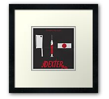 Dexter print Framed Print