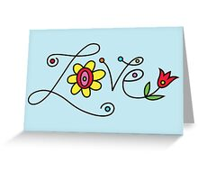 Love Card - blue  Greeting Card