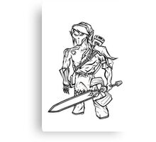 Death Link (Line Art) Canvas Print