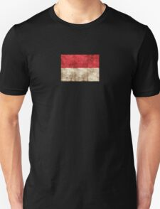 Vintage Aged and Scratched Monaco Flag T-Shirt