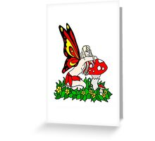 Sassy Faerie and Mushrooms Greeting Card