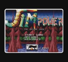 Jim Power Genesis Megadrive Sega Start menu screenshot by ruter