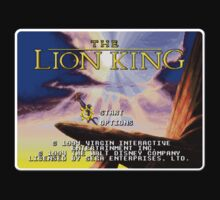 Lion King Genesis Megadrive Sega Start menu screenshot by ruter