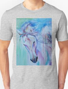 Running in shades of pink and blue T-Shirt