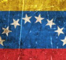 Vintage Aged and Scratched Venezuelan Flag Sticker