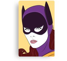 60s Bat Girl - Nagel Style Canvas Print
