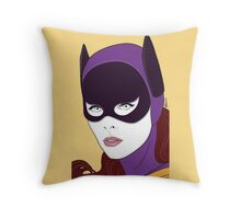 60s Bat Girl - Nagel Style Throw Pillow