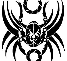 Tribal Scarab by redqueenself