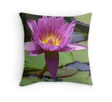 Pink Lotus Blossom Throw Pillow