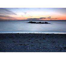 Sun set on a beach Photographic Print