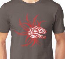 Red Tribal Dinosaur Unisex T-Shirt