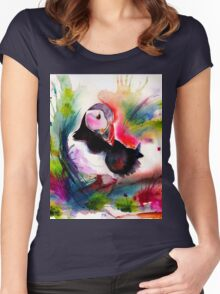 Puffin Women's Fitted Scoop T-Shirt