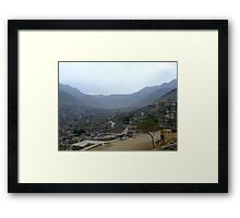 Comas. The landscape and a child. Framed Print