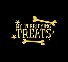My terrifying treats- perfect funny design for Halloween! by jazzydevil