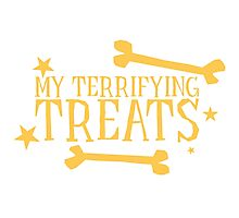 My terrifying treats- perfect funny design for Halloween! Photographic Print