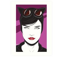 Cat Woman - Nagel Style Art Print