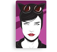 Cat Woman - Nagel Style Canvas Print