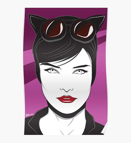 Cat Woman - Nagel Style Poster