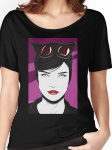 Cat Woman - Nagel Style Women's Relaxed Fit T-Shirt