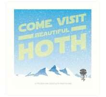 Hoth travel poster Art Print