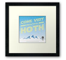Hoth travel poster Framed Print