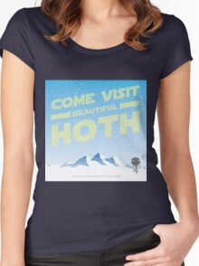 Hoth travel poster Women's Fitted Scoop T-Shirt