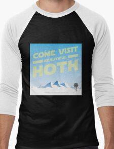Hoth travel poster Men's Baseball ¾ T-Shirt