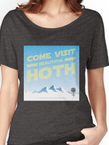 Hoth travel poster Women's Relaxed Fit T-Shirt