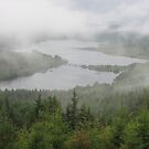 Loch Garry in fog by zahnartz