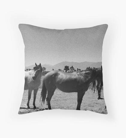DESERT HORSES Throw Pillow