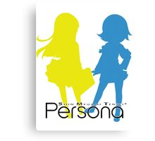 Persona Silhouettes with logo Canvas Print