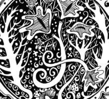 Autumn Abstract Tee Sticker