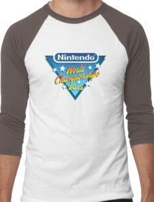 Nintendo World Championships 2015 Logo Men's Baseball ¾ T-Shirt