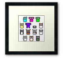 The Pixels Framed Print